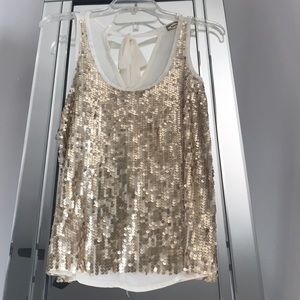 Kirra Gold Sequin Top